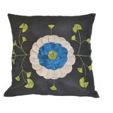 Chocolate Color Polyster Cushions Of 40x40cm Size With Floral Flowers And Funnel