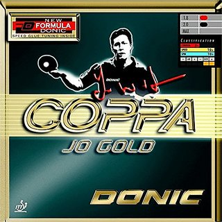 Donic Coppa JO Gold Table Tennis Rubbers (Red)