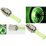 Flashing Flash Wheel Lights (2 x 2Pcs) For All Cars / Bikes - Green