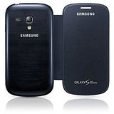 Samsung galaxy S3 mini flip case / flip cover black / white