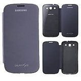 Samsung galaxy S3 flip case / flip cover black / pebble blue / black