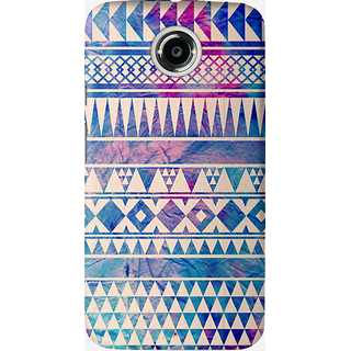 The Fappy Store Colorful-Urban-Tribal Back Cover for Moto X 2nd Gen