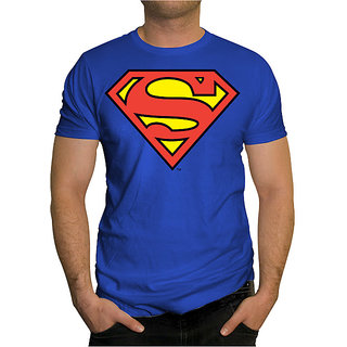 Superman T-shirt - Round Neck Royal Blue (Size : Stretchable ...