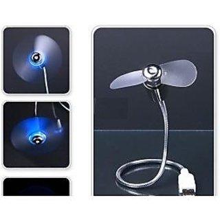 Mini USB Fan Adjustable Flexible For PC Laptop Notebook