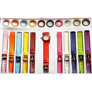 11 in 1 Changeable Analog Plastic Watch - Women