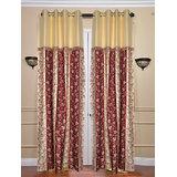 Handloomhub Eyelet Design Curtain With Beautiful Laces(4x7ft)- Set Of 2