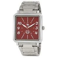 TIGERHILLS RECTANGLE STYLISH STEEL WATCH FOR MEN M.N.16001(RED)