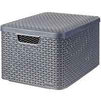 Curver Style Box Large  V2 + Lid Dark Grey - 03619DG