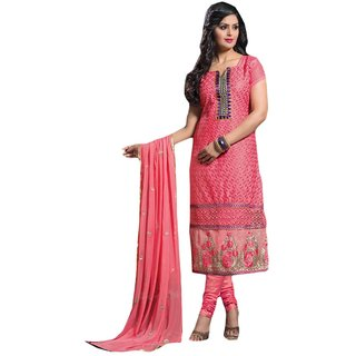 Shopping Queen Exquisite Pink Party Wear Designer Semi-Stitched Salwar Suit