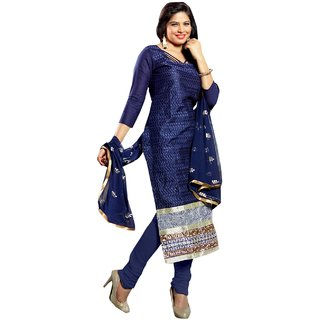 Shopping Queen Blue Party Wear Designer Semi-Stitched Salwar Suit