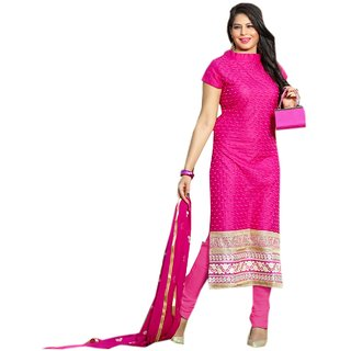 Shopping Queen Pink Party Wear Designer Semi-Stitched Salwar Suit