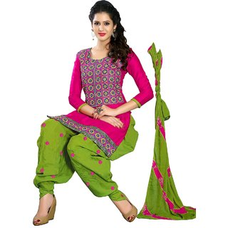 Shopping Queen Pretty Semi-Stitched Patiyala Suit