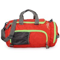 Bendly Red Polyester Duffel Bag (No Wheels)