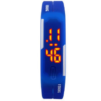 Skmei Sports LED Silicon Dark Blue colour Watch T_NWA02S000C5