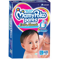 Mamy Poko Extra Absorb Pant Style Diaper Large - 48 Pieces