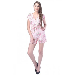 Printed Front Wrap Play Suit