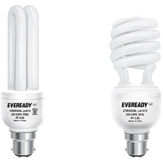 Eveready ELS 27W And ELD 15W CFL Bulb (White) Image