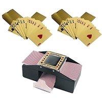 Casinoite 2 Gold Decks With Card Shuffler