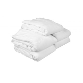 Just Hospitality Economy Pack of 5 Water Resistant Single Fitted Mattress Protectors (JHB1005SF)