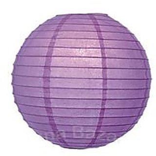 Skycandle.in 12 Round Paper Lantern (Purple) - 1 Piece