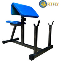 Fitfly Brand New Preacher Curl Weight Lifting Bench For Home Gym Exercise