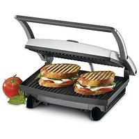 Nova 2 Slice Sandwich Grill Maker(Black & Steel)