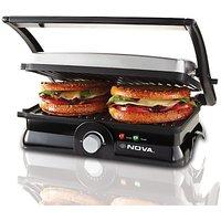Nova 3 In 1 Panni Grill Press With Adjustable Temperature Control(Black)