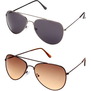 Davidson Dark Green Aviator Sunglasses