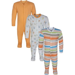 JAZZUP Printed Infant Pack of 3 Rompers