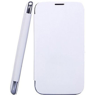 Micromax A67 Bolt Generic Flip Cover White available at ShopClues for Rs.175