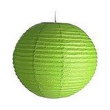 12 Inch Even Round Paper Lantern (Kiwi Green) - 1 Piece
