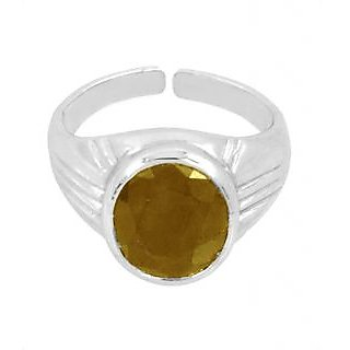 6.25 Ratti Yellow Sapphire Ring In Sterling Silver