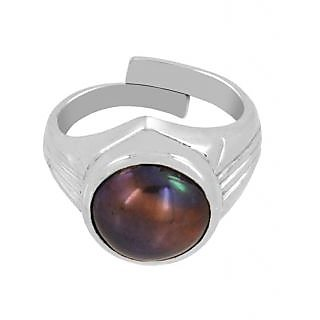 5.25 Ratti Black Pearl Ring In Mens Style In Sterling Silver