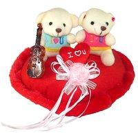 Tickles Red I Love You Couple Teddy Heart Stuffed Soft Plush Toy Teddy Bear 25 cm T656