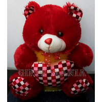 Red Teddy Bear With Heart , Fresh Arrival In Market, Quality Fabric