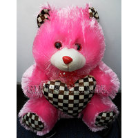 Pink Teddy Bear With Heart 1, Fresh Arrival In Market, Quality Fabric