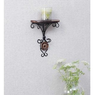 Onlineshoppee Beautiful wood  wrought iron Fancy wall bracket
