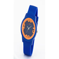 Oink Colourful Kids Watch With Orange Ring And Blue Strap