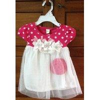 Pretty pink polka dot party dress