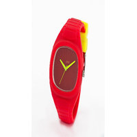 Oink Square Dial Kids Watch With Red Strap