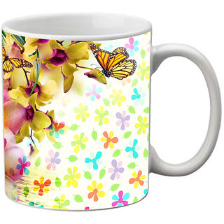 meSleep Floral Pattern Mug