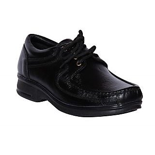 Jackboot Lace up Black Leather Shoes (JB-1302-Black)