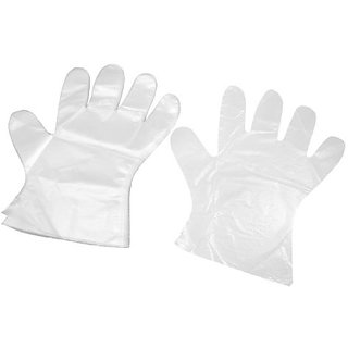 Disposable Plastic Hand Gloves (90 In Each) (Pack Of 3 )
