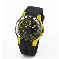 Av73blkylw-Sor Black/Black Analog Watch
