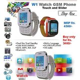 wrist watch mobile KenXinda W1 Watch Mobile Dual Sim touch and type nd slider free bluetooth headset