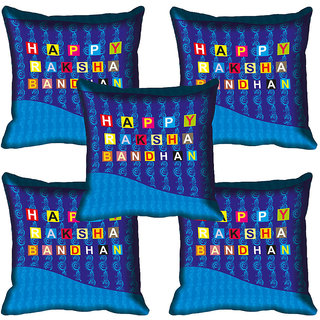 meSleep Happy Raksha Bandhan Cushion Cover (16x16)