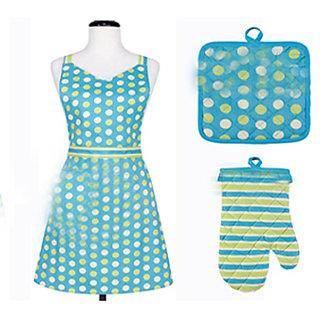 3 pcs Kitchen Set - apron/gloves  pot holder