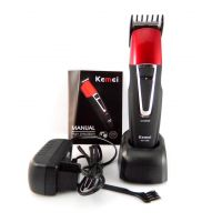 Kemei 1008 Trimmer-Black and Red