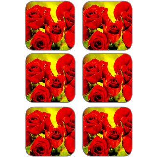 meSleep Rose Wooden Coaster-Set of 6