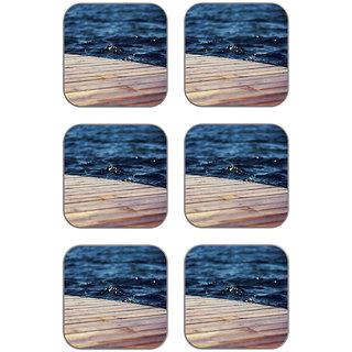 meSleep Water Bridge Wooden Coaster-Set of 6